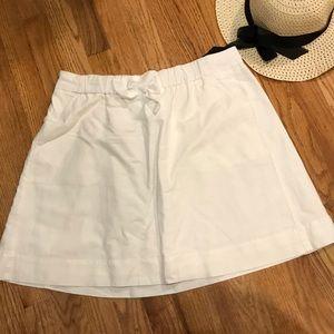 J. Crew white linen mini skirt
